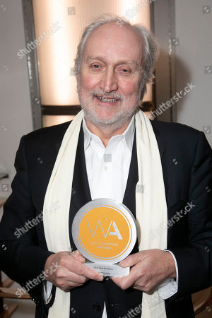 Nick Allott accepts the award for Best West End Show for Les Miserables