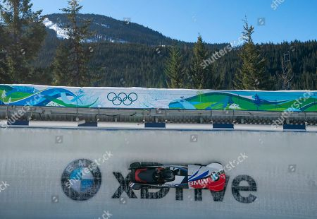 Elana Meyers Taylor and Lake Kwaza of The United States compete in the Women's Bobsleigh event at the IBSF Bobsleigh & Skeleton World Championships in Whistler, Canada, 3 March 2019.