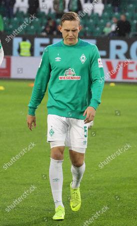Bremen's Ludwig Augustinsson before the German Bundesliga soccer match between between VfL Wolfsburg and Werder Bremen in Wolfsburg, Germany, 03 March 2019.