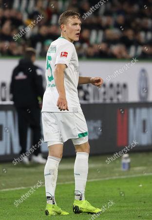 Bremen's Ludwig Augustinsson during the German Bundesliga soccer match between between VfL Wolfsburg and Werder Bremen in Wolfsburg, Germany, 03 March 2019.