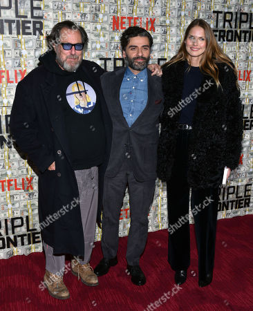 Julian Schnabel, Oscar Isaac and Louise Kugelberg