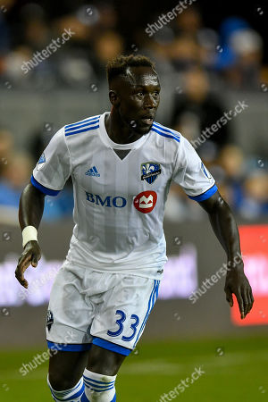 Montreal Impact defender Bacary Sagna (33) in action during the MLS game between the Montreal Impact and the San Jose Earthquakes at Avaya Stadium in San Jose, California