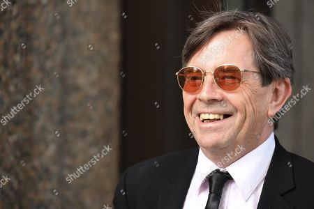 Stock Photo of John Paul Young leaves the Federal Court in Sydney, New South Wales, Australia, 04 March 2019. One of Australia's biggest pop hits 'Love Is In The Air' is at the center of a copyright case in the Federal Court.