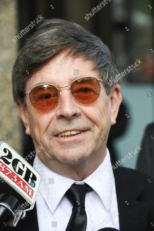 Stock Image of John Paul Young speaks to the media outside the Federal Court in Sydney, New South Wales, Australia, 04 March 2019. One of Australia's biggest pop hits 'Love Is In The Air' is at the center of a copyright case in the Federal Court.