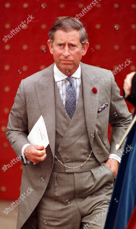 Prince Charles On His Own Yesterday At The Wedding Of His Godson Timothy Knatchbull . Rexmailpix.