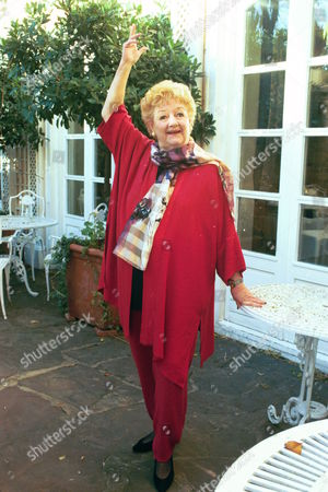 Actress Joan Sims In London Today Who Will Feature In A Coming Tv Documentary On The Film Series. . Rexmailpix.