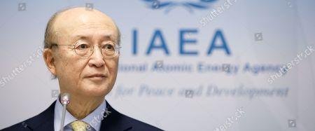 Yukiya Amano, the Director General of the International Atomic Energy Agency (IAEA), delivers a statement to the media during a meeting of the board of governors at the IAEA headquarters in Vienna, Austria, 04 March 2019. The IAEA board of governors meeting runs until 08 March 2019.