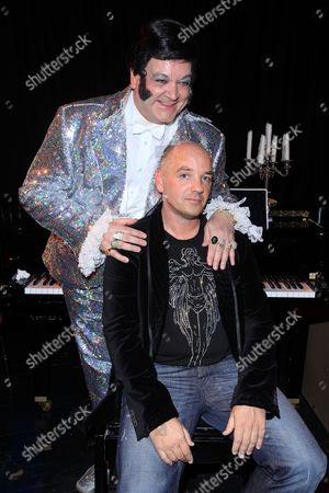 Joe Power and Bobby Crush, who plays Liberace in 'Liberace Live From Heaven'.