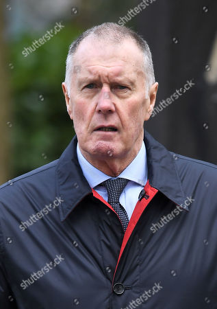 Sir Geoff Hurst at the funeral of Gordon Banks, Stoke Minster, Stoke-on-Trent, UK