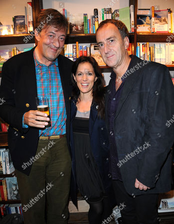 Stephen Fry, Angus Deayton and Lise Mayer
