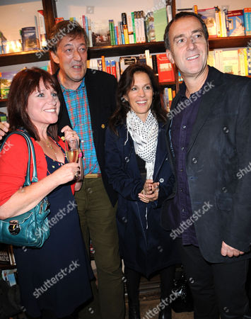 Jan Ravens, Stephen Fry, Lise Mayer and Angus Deayton
