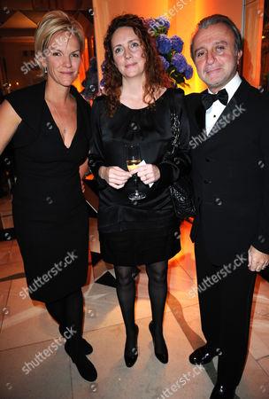 Elisabetha Murdoch with Rebekah Brooks and Rafi Manoukian
