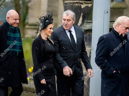 Former England goalkeeper Peter Shilton (2-R) attends the funeral of former England goalkeeper Gordon Banks at the Stoke Minster in Stoke on Trent, Britain, 04 March 2019. Gordon Banks won 73 caps for England and won the World Cup in 1966. He died on 12 February 2019.