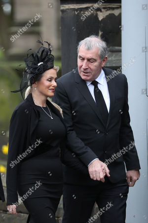 Peter Shilton makes his way into Stoke Minster prior to the funeral service of Gordon Banks
