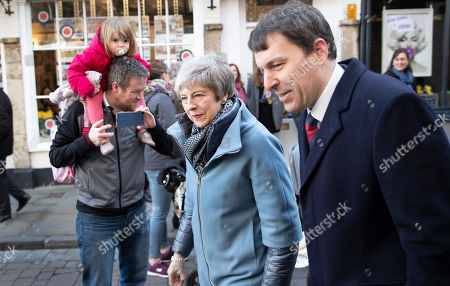 Prime Minister Theresa May visits Salisbury with local MP John Glen (R) on the first anniversary of the poisoning of former Russian spy Sergei Skripal and his daughter Yulia in March 2018. They both survived the nerve agent attack but a resident of nearby Amesbury, Dawn Sturgess, died in June 2018 after coming in contact with the poison. Two Russians have been named in connection with the attack.
