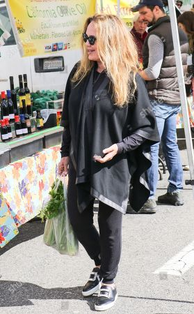Catherine Bach shopping at the Farmer's Market in Studio City