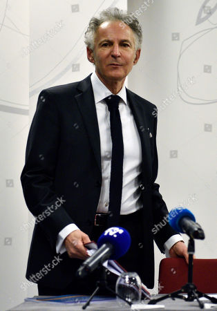 Stock Picture of Francois Zimeray, Carlos Ghosn family's Defense Lawyer attends a press conference about the question of respect for Human Rights in the case against Carlos Ghosn, in Paris, France, 04 March 2019. Carlos Ghosn, Nissan chairman has been arrested by Tokyo prosecutors on 19 November 2018, over the alleged violation of Japan's financial instruments and exchange act. He is suspected of having understated his own corporate income, reports added.