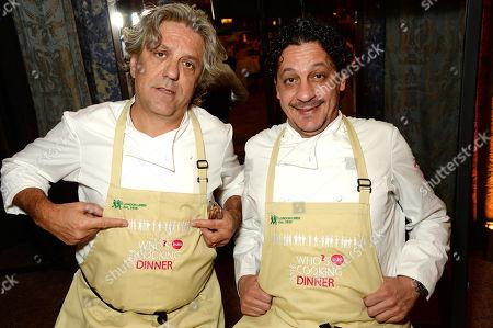 Stock Image of Giorgio Locatelli and Francesco Mazzei