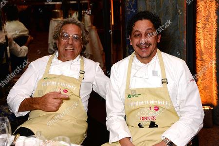 Stock Picture of Giorgio Locatelli and Francesco Mazzei