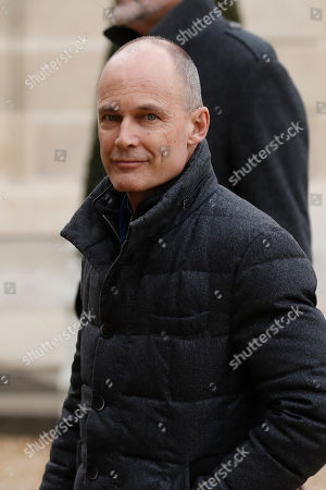 Swiss aeronaut and chairman of the Solar Impulse foundation, Bertrand Piccard, arrives at the Elysee Palace to attend the One Planet Lab meeting in Paris, France, 04 March 2019.