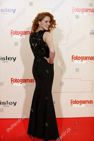 Maria Castro poses while arriving at the Fotogramas de Plata 2018 awards in Madrid, Spain, 04 March 2019.