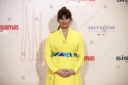 Sara Salamo poses while arriving at the Fotogramas de Plata 2018 awards in Madrid, Spain, 04 March 2019.