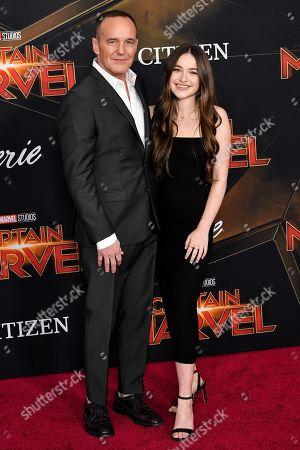 Stock Image of Clark Gregg and Stella Gregg