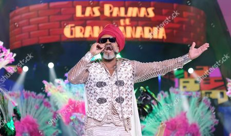 Brazilian musician and singer Carlinhos Brown performs during the Drag Queen contest gala at Las Palmas 2019 Carnival in Las Palmas de Gran Canaria, Canary Islands, Spain, 04 March 2019.
