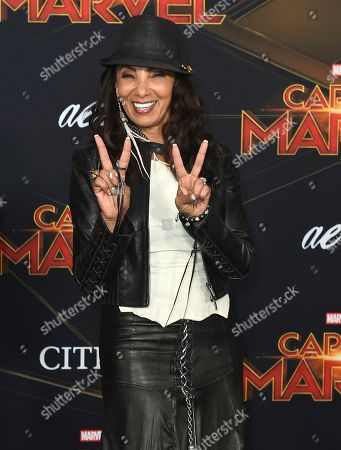 """Downtown Julie Brown arrives at the world premiere of """"Captain Marvel"""", at the El Capitan Theatre in Los Angeles"""
