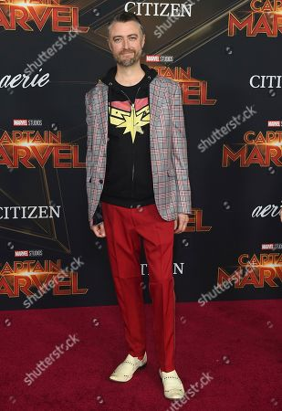"""Sean Gunn arrives at the world premiere of """"Captain Marvel"""", at the El Capitan Theatre in Los Angeles"""