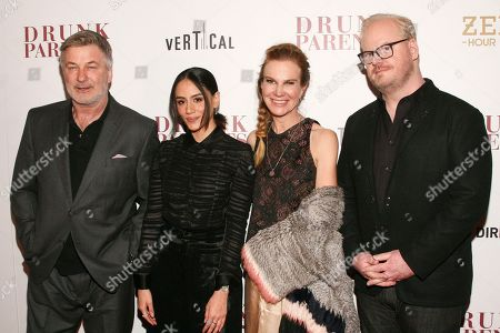 "Stock Picture of Alec Baldwin, Michelle Veintimilla, Jeannie Gaffigan, Jim Gaffigan. Alec Baldwin, Michelle Veintimilla, Jeannie Gaffigan and Jim Gaffigan attend the premiere of ""Drunk Parents"" at the Roxy Cinema, in New York"
