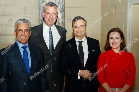 Charles S. Cohen, Mayor Bill de Blasio, Gerard Araud (Ambassador of France to the United States), Benedicte de Montlaur (Cultural Counselor of the French Embassy)