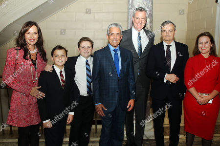 Clo Cohen, Blake Cohen, Rex Cohen, Mayor Bill de Blasio, Charles S. Cohen, Gerard Araud (Ambassador of France to the United States), Benedicte de Montlaur (Cultural Counselor of the French Embassy)