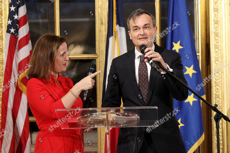 Benedicte de Montlaur (Cultural Counselor of the French Embassy), Gerard Araud (Ambassador of France to the United States)
