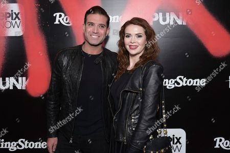 "Omar Sharif Jr., Carly Steel. Omar Sharif Jr., left, and Carly Steel attend the LA premiere of ""Punk"" at SIR, in Los Angeles"