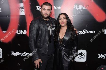 """Weston Cage Coppola, Hila Coppola. Weston Cage Coppola, left, and Hila Coppola attend the LA premiere of """"Punk"""" at SIR, in Los Angeles"""