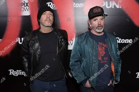 "Stock Photo of Mike Ness, Jonny Wickersham. Mike Ness and Jonny Wickersham attend the LA premiere of ""Punk"" at SIR, in Los Angeles"