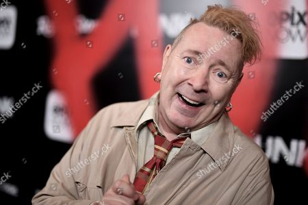 """John Lydon attends the LA premiere of """"Punk"""" at SIR, in Los Angeles"""