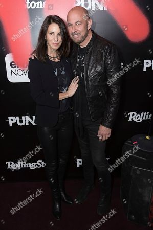 "Stock Picture of Joyce Zybelberg Varvatos, John Varvatos. Joyce Zybelberg Varvatos, left, and John Varvatos attend the LA premiere of ""Punk"" at SIR, in Los Angeles"