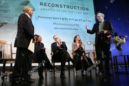 "Henry ""Skip"" Gates, Jr., Kimberle Crenshaw, David Blight, Julia Marchesi and Eric Foner"