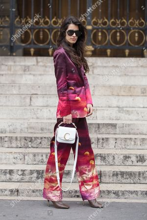 Editorial picture of Street Style, Fall Winter 2019, Paris Fashion Week, France - 04 Mar 2019