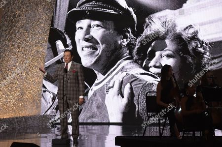 """Smokey Robinson at the """"Aretha! A Grammy Celebration For The Queen Of Soul"""" tribute in Los Angeles. The tribute will air on March 10, on CBS"""