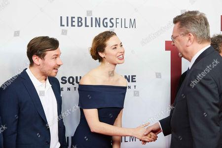 David Kross, Freya Mavor, Reinhard Grindel
