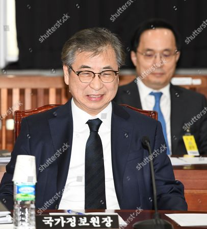 Suh Hoon, director of the National Intelligence Service, attends a parliamentary session with lawmakers at the National Assembly in Seoul, South Korea, 05 March 2019, to discuss the outcome of the second summit between US President Donald J. Trump and North Korean leader Kim Jong-un in Hanoi that ended with no deal on denuclearization.