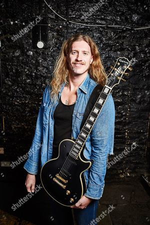 Stock Picture of Bristol United Kingdom - March 7: Portrait Of American Blues Rock Musician Jared James Nichols Photographed Before A Live Performance At The Fleece Bristol England On March 7