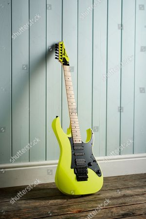 An Ibanez Rg550 Electric Guitar With Desert Sun Yellow Finish
