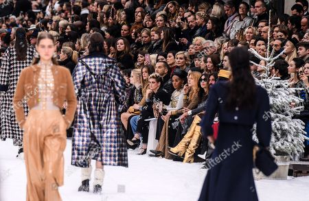 Stock Photo of Kristen Stewart, Janelle Monae and Clemence Poesy in the front row