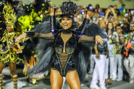 Sabrina Sato Queen of the battery of the Samba School Vila Isabel during a parade of the 2019 Carnival Special Group at the Sambodromo Marques do Sapucai