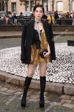 Editorial photo of Miu Miu show, Arrivals, Fall Winter 2019, Paris Fashion Week, France - 05 Mar 2019