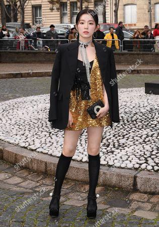 Editorial picture of Miu Miu show, Arrivals, Fall Winter 2019, Paris Fashion Week, France - 05 Mar 2019